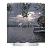 The World Goes Round Shower Curtain