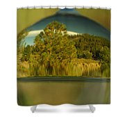 The World In Reflection Shower Curtain