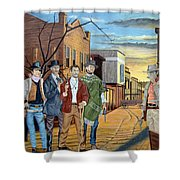 The World Of Classic Westerns Shower Curtain