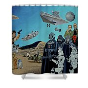 The World Of Star Wars Shower Curtain
