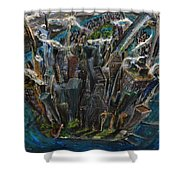 The Worlds Capital Shower Curtain