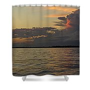 The World's Luckiest Fishing Village Shower Curtain