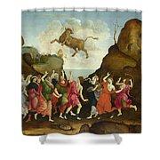 The Worship Of The Egyptian Bull God Apis Shower Curtain