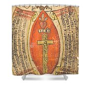 The Wounds Of Christ With The Symbols Of The Passion Shower Curtain