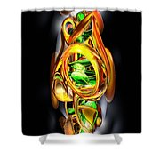 The Wraith Abstract Shower Curtain