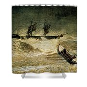 The Wreck Of The Iron Cloud, 1881 Shower Curtain