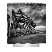 The Wreck Of The Peter Iredale Shower Curtain