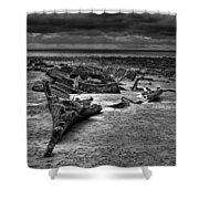 The Wreck Of The Steam Trawler Shower Curtain