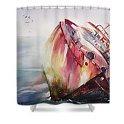 The Wreck Shower Curtain