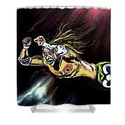 The Wrestler Shower Curtain