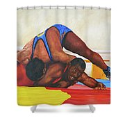The Wrestlers Shower Curtain