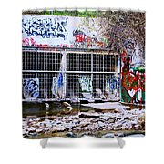 The Writing's On The Wall Shower Curtain