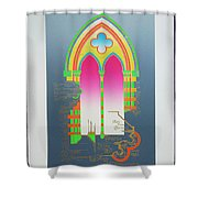 The Wurlitzer Window Shower Curtain