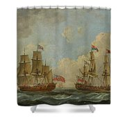The Yacht Royal Charlotte Shower Curtain