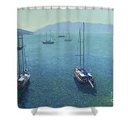 The Yachts Shower Curtain