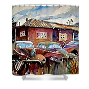 The Yard Ornaments Shower Curtain