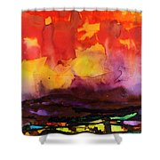 The Yellow Cloud Shower Curtain