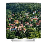 The Yellow House Shower Curtain