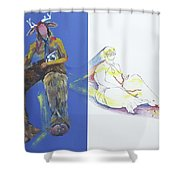 The Yellow King Shower Curtain