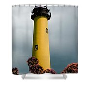 The Yellow Lighthouse Shower Curtain
