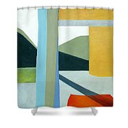 The Yellow Porch Shower Curtain by Don Perino