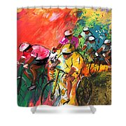 The Yellow River Of The Tour De France Shower Curtain