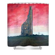 The Yellow Steeple Shower Curtain