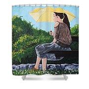 The Yellow Umbrella Shower Curtain