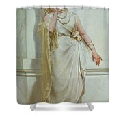 The Young Bride Shower Curtain by Alcide Theophile Robaudi