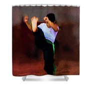 The Young Fighter Shower Curtain