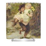 The Young Gallant Shower Curtain