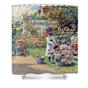 The Young Gardeners Shower Curtain