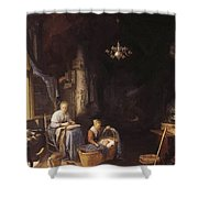 The Young Mother 1658 Shower Curtain