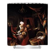 The Young Mother 1660 Shower Curtain