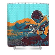 The Young Musician Shower Curtain