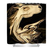 The Young Pegasus Shower Curtain