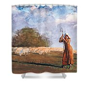 The Young Shepherdess Shower Curtain