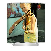 The Young Violinist  Shower Curtain