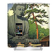 The Zen Of Iphone Shower Curtain