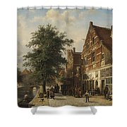 The Zuiderhavendijk, Enkhuizen, 1868 Shower Curtain