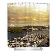 Thea Foss Waterway In Tacoma Washington Shower Curtain