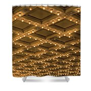 Theater Ceiling Marquee Lights Shower Curtain