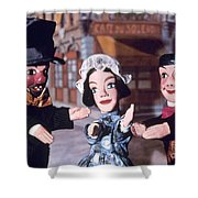 Theater: Puppet Characters Shower Curtain
