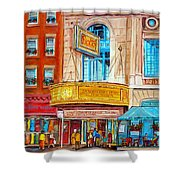 Theatre Rialto Ave. Du Parc Montreal Shower Curtain