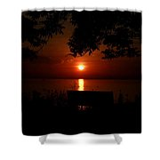 Thee Moss Awesome Sunrise Shower Curtain