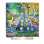 Thematic Colors Lure Shower Curtain