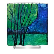 Then Came Evening Shower Curtain