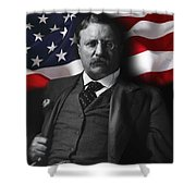 Theodore Roosevelt 26th President Of The United States Shower Curtain