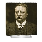 Theodore Roosevelt Shower Curtain by Artistic Panda