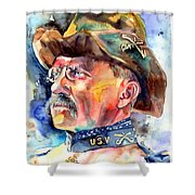 Theodore Roosevelt Painting Shower Curtain